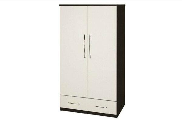 【石川家居】823-02(胡桃白色)衣櫥(CT-105)#訂製預購款式#環保塑鋼P無毒防霉易清潔