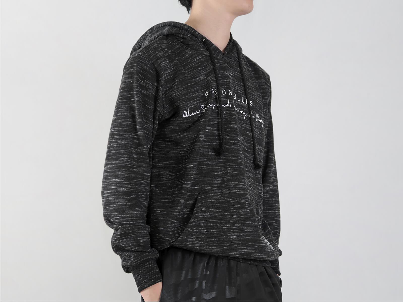 台灣製紋理保暖帽T 連帽T恤 休閒連帽外套 長袖T恤 帽子T恤 連帽上衣 長袖上衣 休閒長TEE 灰色T恤 黑色T恤 MADE IN TAIWAN HOODIE T-shirt (310-0772-21)黑色、(310-0772-22)灰色 L XL(胸圍44~47英吋) [實體店面保障] sun-e 7