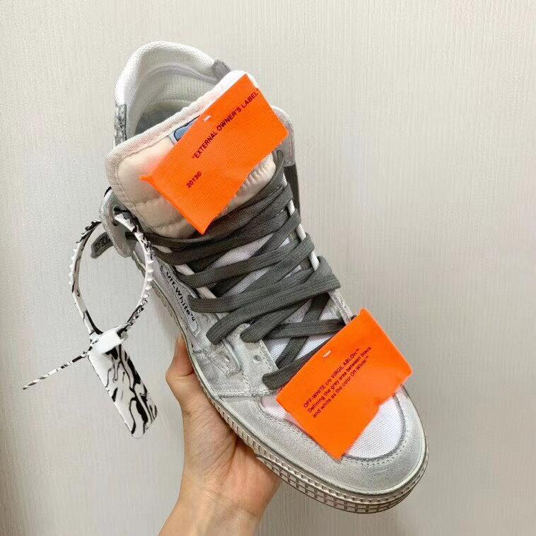 【Chiu189英歐代購】OFF WHITE Off-Court 3.0 麂皮 帆布 拼接 仿舊高筒 休閒鞋
