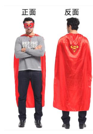 X射線【W275988】50  無敵超人眼罩披風組 超人  披風  萬聖節  化妝舞會