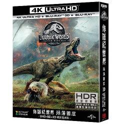 【獨家贈送原文海報】侏儸紀世界: 殞落國度 UHD+BD精裝鐵盒(4碟裝) (4K+3D+2D+Bonus DVD) Jurassic World: Fallen Kingdom UHD+BD Collector's Edition (4 DISC)  (4K+3D+2D+Bonus)