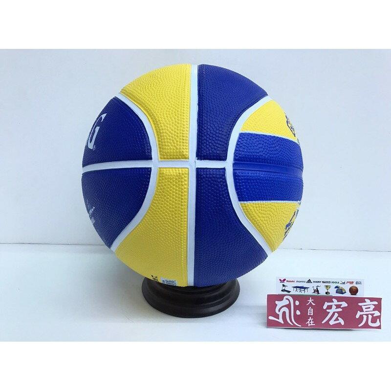 [大自在體育用品] SPALDING 斯伯丁 籃球 室外 隊徽球系列 勇士隊 可加購球袋 觸感(耐磨)SPA83515