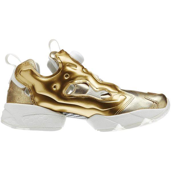 《限時特價↘7折免運》REEBOK Pump Fury Celebrate GOLD 土豪金 女鞋 慢跑鞋 亮金 充氣 V70094