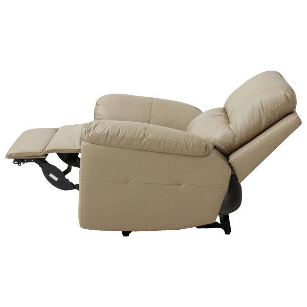 ◎半皮1人用電動可躺式沙發 N-BEAZEL MO NITORI宜得利家居 3