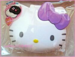 asdfkitty可愛家☆KITTY紫色蝴蝶結臉型首飾收納盒-收納項鍊.戒指.耳環-日本正版商品