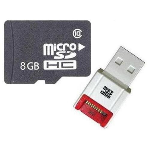 OEM 8GB 8G microSD microSDHC Class 10 micro SD SDHC C10 TF Flash Memory Card + SD Adapter and USB 2.0 Card Reader