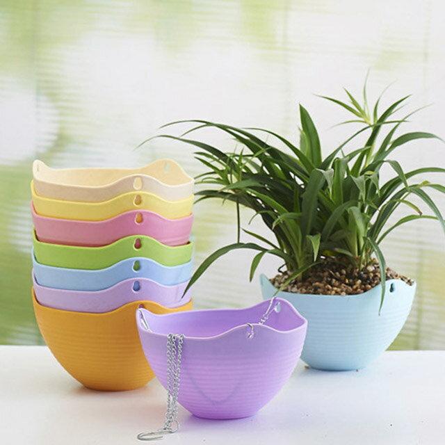 園藝塑料垂吊花盆《隨機出貨不挑色》