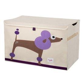 【淘氣寶寶】加拿大 3 Sprouts 大型玩具收納箱-貴賓狗【超大容量造型玩具箱,可摺疊收納,加蓋防塵】【保證公司貨●品質保證】