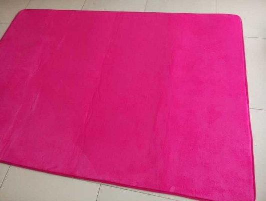 日系 訂製 珊瑚絨短毛地毯臥室客廳 居家  防水 防滑 訂製 地毯   面料 374~31