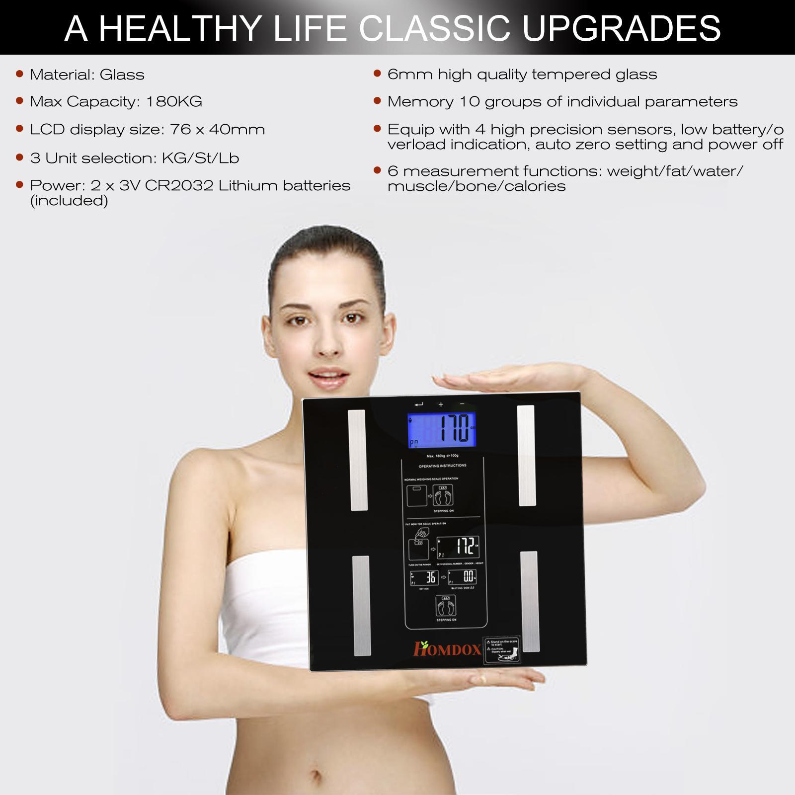 Electronic Body weight Scale 440 lb LCD Display 4