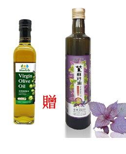 11瓶特惠再贈味榮展康初榨橄欖油500ml瓶贈金椿紫蘇籽油250ML一瓶