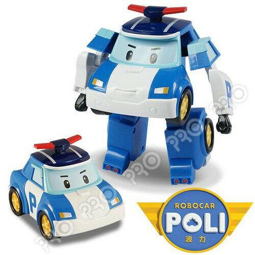 《POLI 波力》變形車系列-LED閃燈 5吋變形波力/羅伊/安寶/赫利