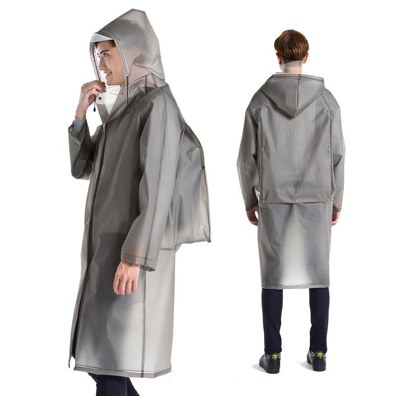 雨衣成人背包長款戶外徒步男女旅行透明防水帽檐單人大碼雨披1入