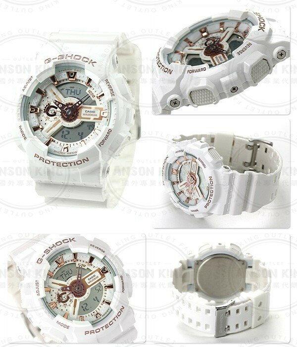國外代購CASIO BABY-G 白天使 BA-110LB-7A 雙顯 防水 手錶 腕錶 情侶錶 5
