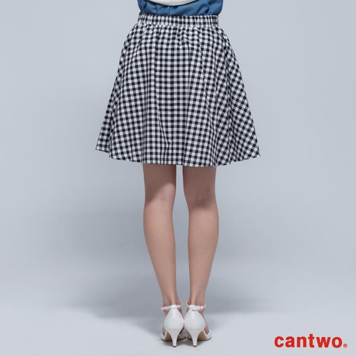cantwo傘狀雙色格紋短裙(共二色) 3
