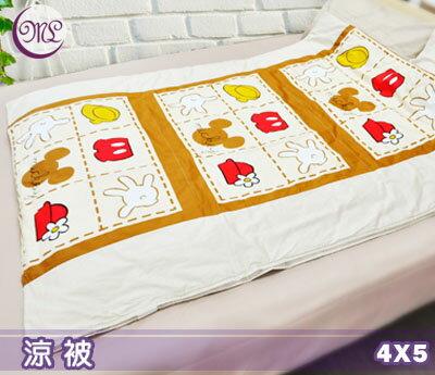 【名流寢飾家居館】陽光米奇.100%純棉.單人涼被.全程臺灣製造