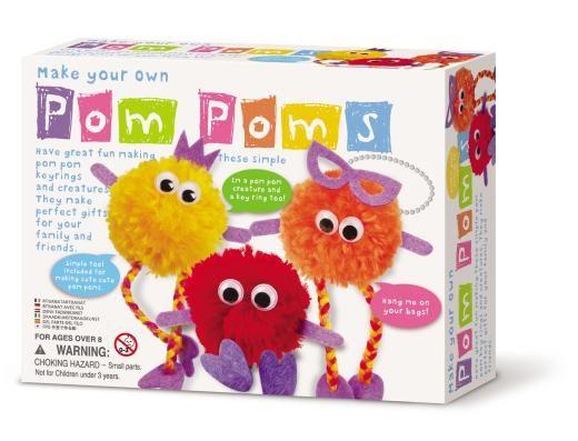 【4M】美勞創作系列-波波毛球家族 Make Your Own Pom Poms 00-0