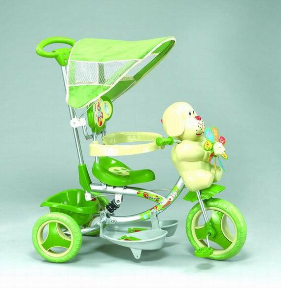 【親親Ching Ching】風車小狗三輪車(綠色) XG3403BPA-028
