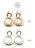 日本CREAM DOT  /  ピアス ドロップ ニッケルフリー 低アレルギー素材 ヴィンテージ調 加工 揺れる メタル マット ゴールド シルバー アクセサリー 上品 シンプル デイリー 女性 大人 レディース  /  qc0403  /  日本必買 日本樂天直送(1290) 2