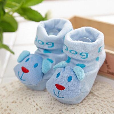 【悅兒園婦幼生活館】NikoKids 止滑襪-藍色狗狗SG198 (精美紗袋包裝)