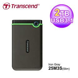 【Transcend 創見】StoreJet 25M3 2TB 薄型行動硬碟 TS2TSJ25M3S 軍綠【三井3C】