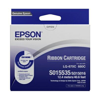 【文具通】原廠 EPSON LQ670 色帶 S015535 1入 E1060042