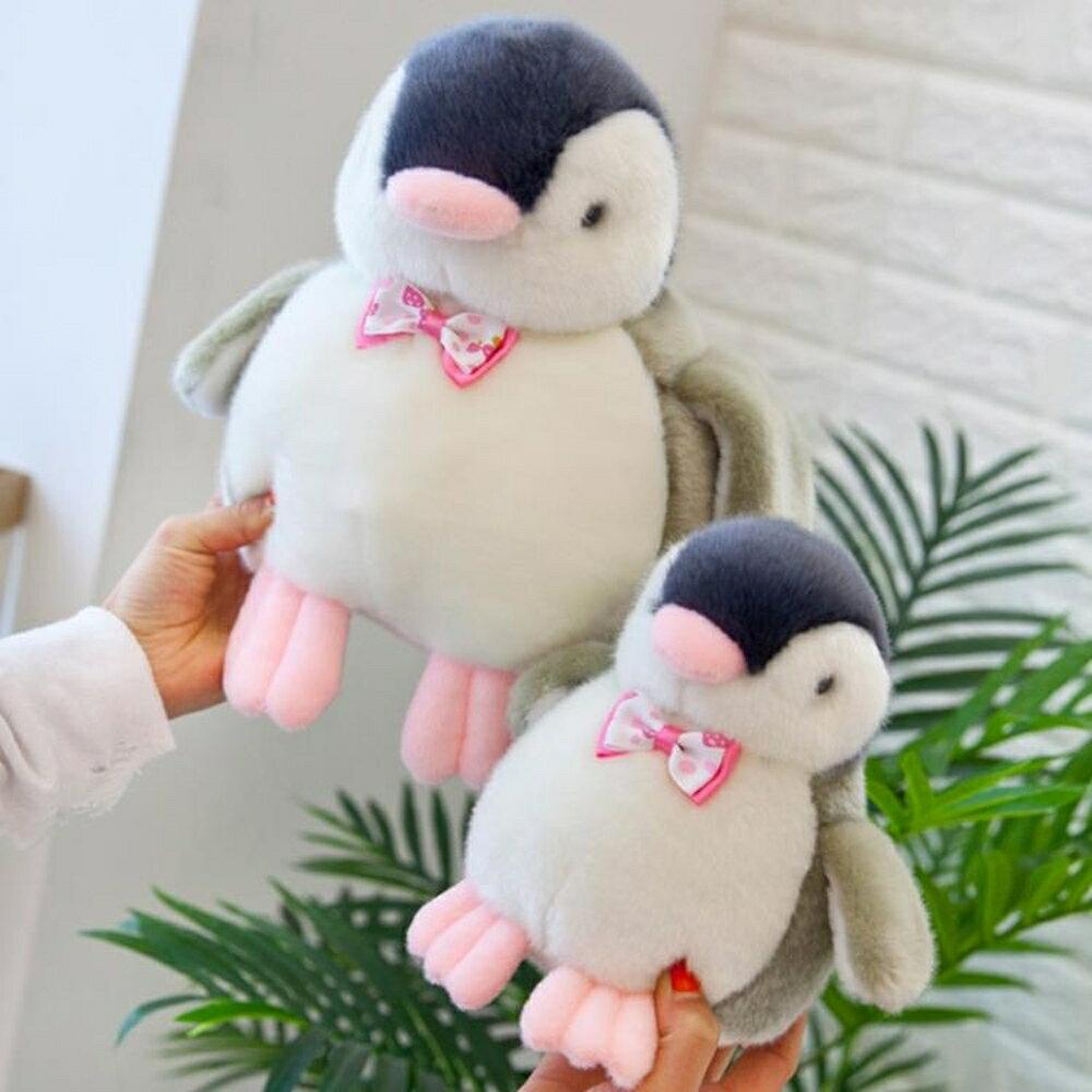玩偶 卡通發聲粉嘴仿真企鵝公仔毛絨玩具玩偶可發聲送娃娃孩生日禮物 歐歐流行館