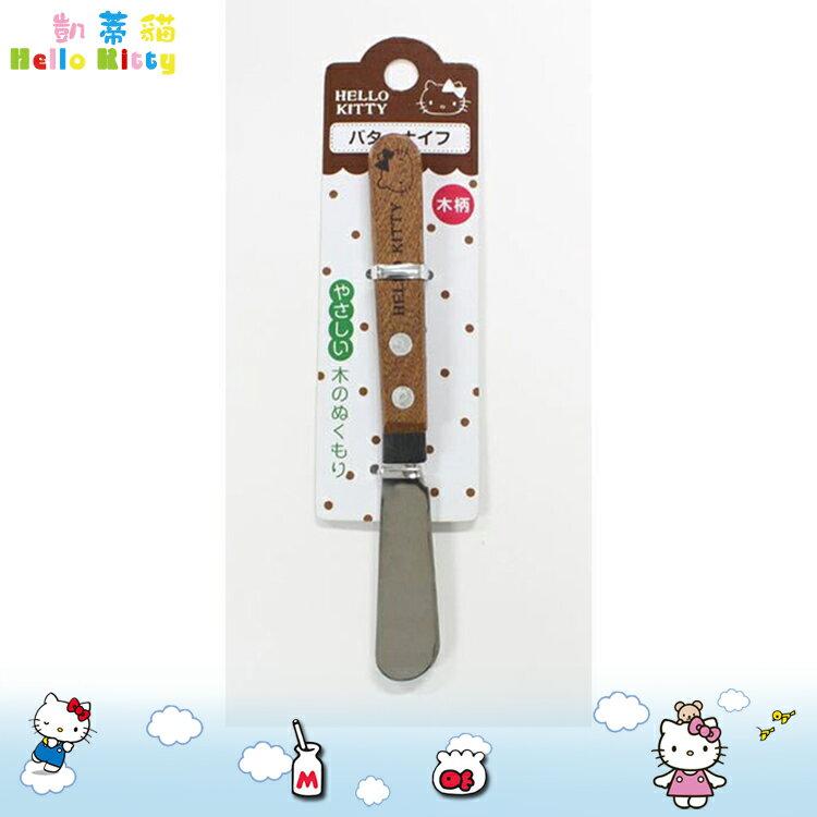 凱蒂貓 Hello Kitty木柄奶油刀 15cm 奶油刀 吐司抹刀 花生醬抹刀 日本進口正版 167835