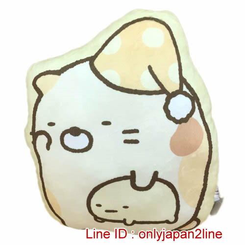 【真愛日本】16122100004角落生物造型抱枕-貓咪   SAN-X 角落公仔  抱枕 靠枕 娃娃