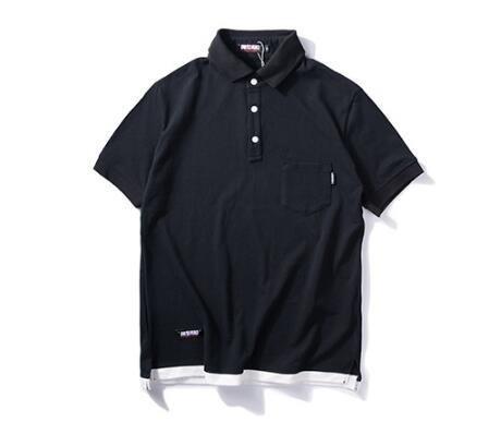 FINDSENSE MD 韓國  時尚休閒 潮 男 素面 胸口口袋 個性T恤 短袖T恤 短袖POLO衫