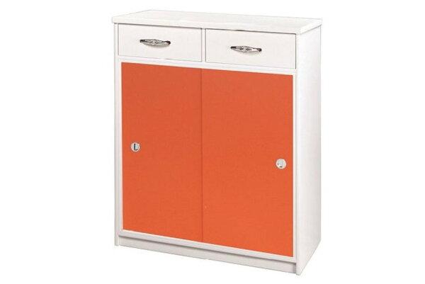 【石川家居】868-03(桔白色)鞋櫃(CT-313)#訂製預購款式#環保塑鋼P無毒防霉易清潔