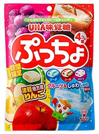 【UHA味覺糖】噗啾綜合軟糖 95g ~期間限定~ 津輕蘋果 / 蘇打汽水 / 可樂 / 葡萄 日本進口糖果 3.18-4 / 7店休 暫停出貨 1