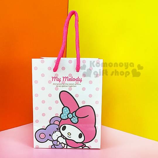 〔小禮堂〕美樂蒂 直式提袋《小.白.翹單耳.抱朋友.點點》送禮包裝最方便