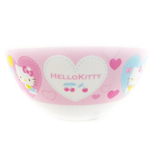 【真愛日本】15091900004小餐碗-愛心粉  三麗鷗 Hello Kitty 凱蒂貓 小碗  餐碗  正品