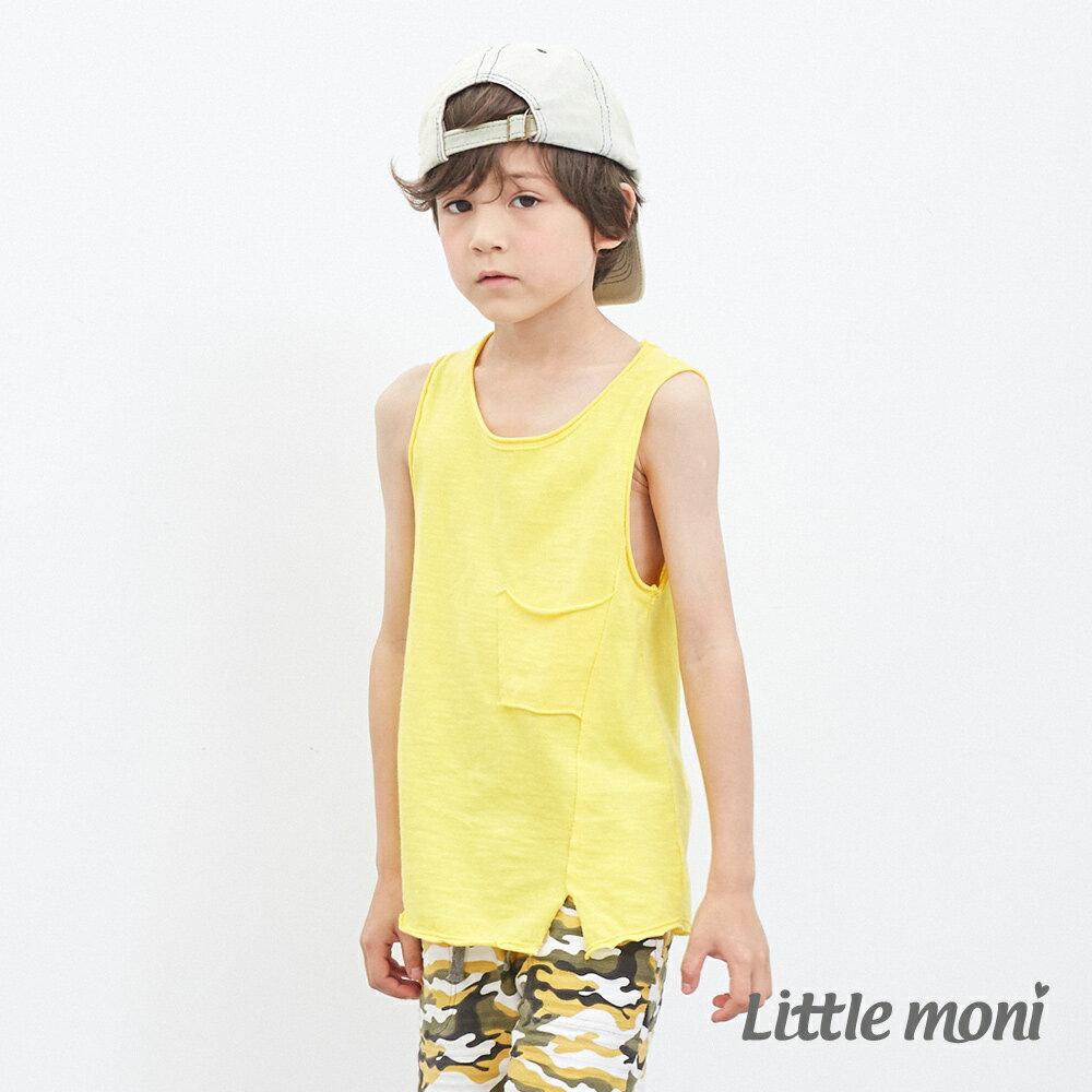 Little moni 經典素面背心-黃色 0