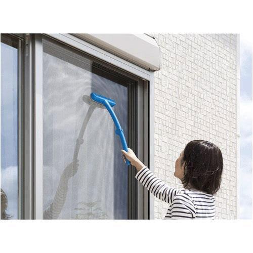 【超取免運】日本 Nippon Seal 加長型 可折疊 超省力 強力紗窗清潔刷*夏日微風* 3