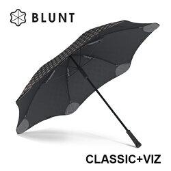 ├登山樂┤紐西蘭 BLUNT 保蘭特 CLASSIC + VIZ 反光傘面 經典直傘 - 時尚黑 # BLT-C02-BK