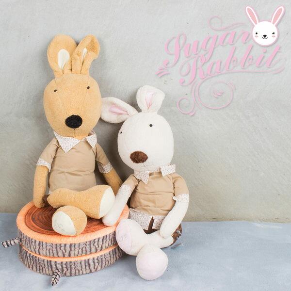 砂糖兔│Le Sucre鄉村兔(45) 法國兔暖男風 法國兔子 英國兔兔 布偶 抱枕 禮物