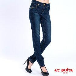 【專櫃新品免運↘】法式浪漫星星直筒丹寧褲 - BLUE WAY  ET BOiTE 箱子