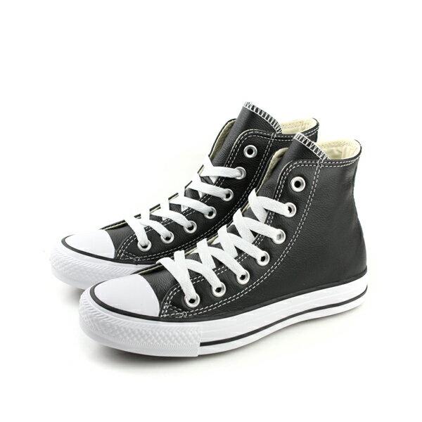 CONVERSE Chuck Taylor All Star Leather 皮革 舒適 基本款 戶外休閒鞋 黑 男女款 132170C no059 0
