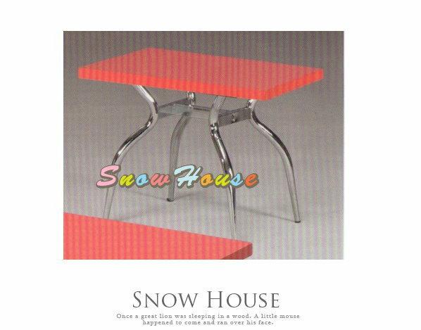╭☆雪之屋居家生活館☆╯A386-12 電鍍腳歐風小茶几/餐桌/茶桌/咖啡桌/置物桌**紅色面