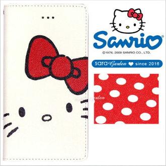 Sanrio Hello Kitty 正版 iPhone 6 6S 彩繪 收納 夾層 手機殼 皮套 翻蓋 保護套【大頭點點】