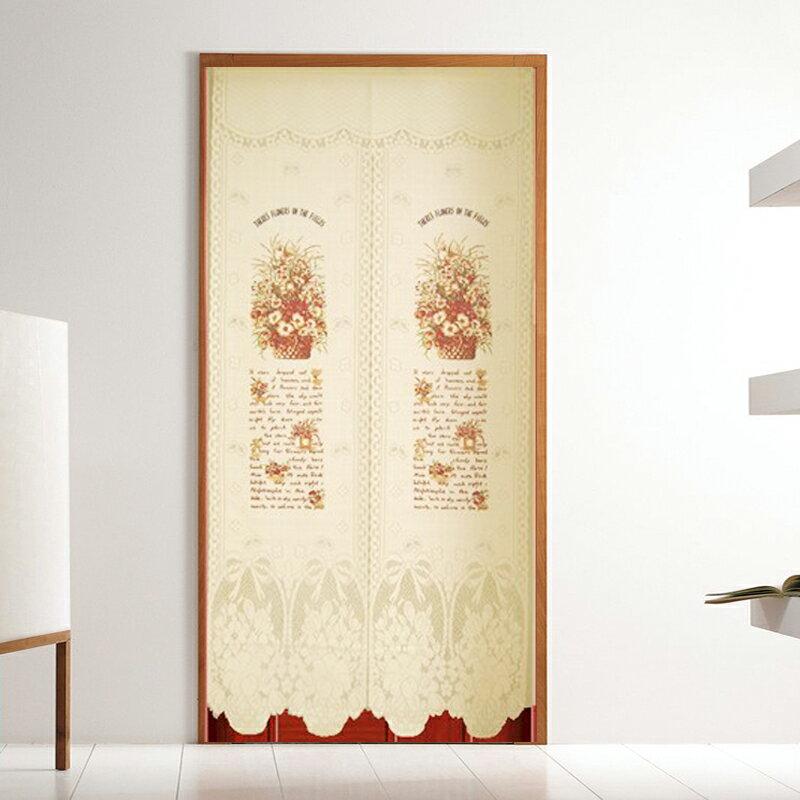+ 針織門簾~法式花籃加長版~85 x175cm 加長 可當風水簾+