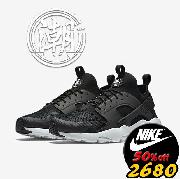 Nike air huarache run ultra breathe 四代黑白武士 跑步慢跑鞋 情侶鞋【T1】潮