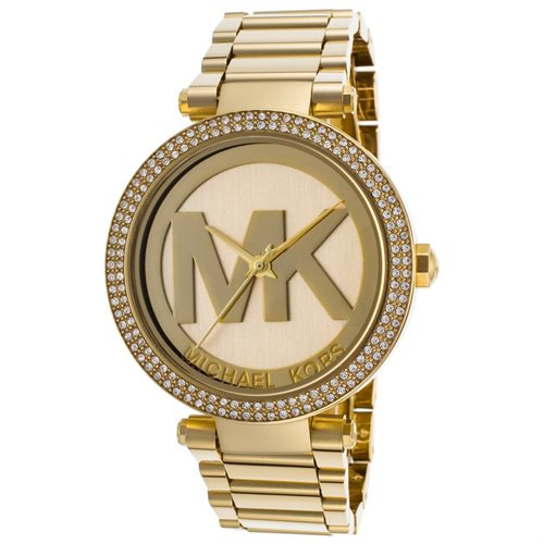 Michael Kors Parker Logo Glitz Gold-Tone Ladies Watch MK5784 0