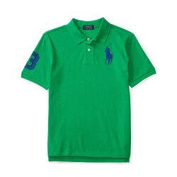 美國百分百【Ralph Lauren】Polo 衫 RL 短袖 網眼 上衣 寶藍大馬 男款青年版 XS S號 綠色 B003