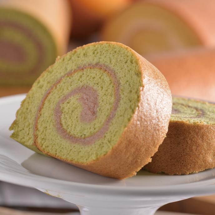 【食感旅程Palatability】抹茶栗子捲 / 特製綿密蛋糕 / 法國進口安貝栗子