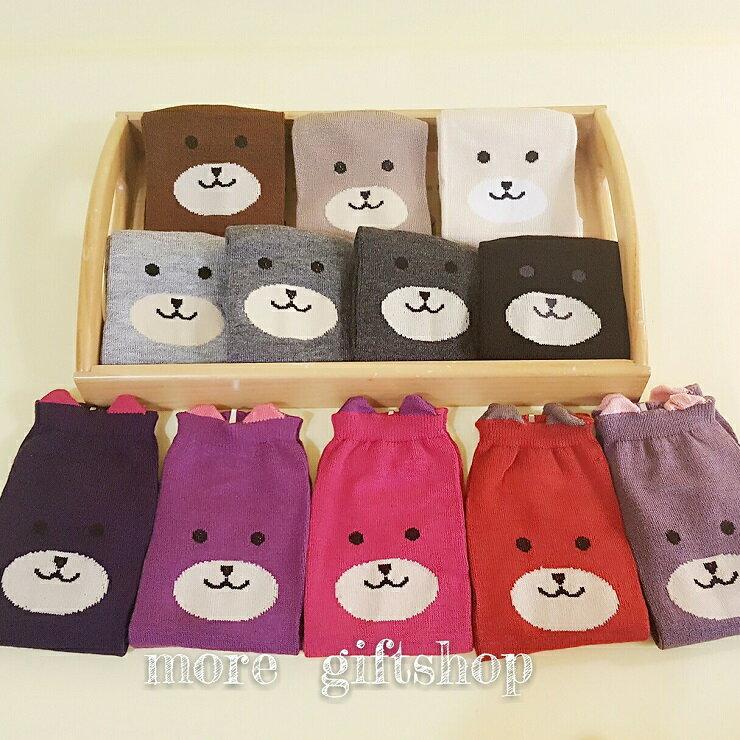 【more 禮品小舖】PRETTY 襪子系列 ~ 小熊短襪、冬季溫暖可愛少女短襪