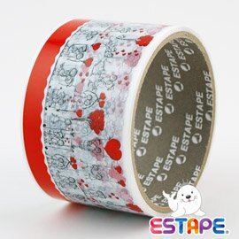 ESTAPE 留邊易撕貼~OPP裝飾膠帶^(兩小無猜^)