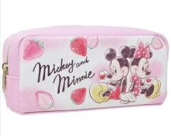 米奇 米妮筆袋.化妝包.粉色. 迪士尼.Disney.日貨 J00010005